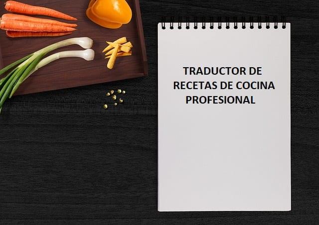 Traductor de recetas de cocina online
